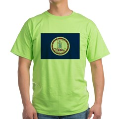 Beloved Virginia Flag Modern Style Green T-Shirt