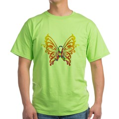 Autism Butterfly Ribbon Green T-Shirt