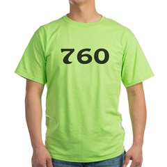 760 Area Code Green T-Shirt