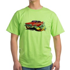 1958-59 Fury Red Car Green T-Shirt
