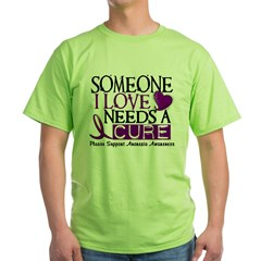 Needs A Cure ANOREXIA Green T-Shirt