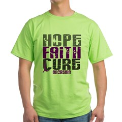 HOPE FAITH CURE Anorexia Green T-Shirt