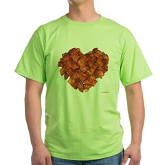 Bacon Heart - Green T-Shirt