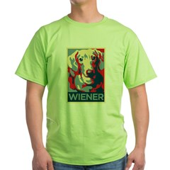 Vote Wiener! Green T-Shirt