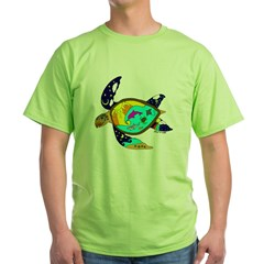 Earth Day Sea Turtle Green T-Shirt