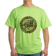 Celtic Cat Green T-Shirt