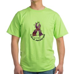Flower Ribbon LUPUS Green T-Shirt