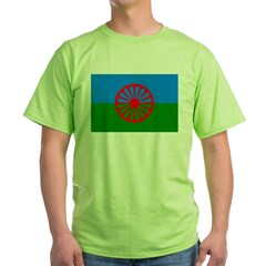 Romani Flag (Gypsies Flag) Green T-Shirt