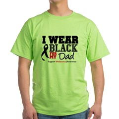Melanoma Ribbon Dad Green T-Shirt