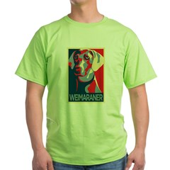 Vote Weimaraner! Green T-Shirt