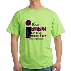 I Wear Purple For My Mother-In-Law 9 PC Green T-Shirt