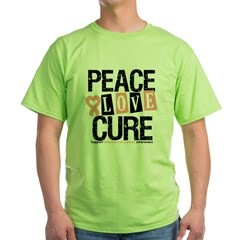 Endometrial Cancer Cure Green T-Shirt
