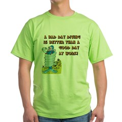 Bad Day Diving Green T-Shirt