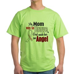 Angel 1 MOM Lung Cancer Green T-Shirt