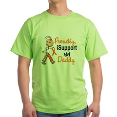 iSupport My Daddy SFT Orange Green T-Shirt