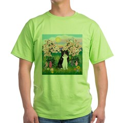 Blossoms/Tuxedo Ca Green T-Shirt