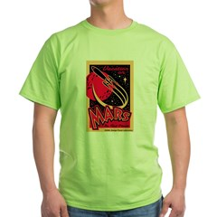 Mars Vacation Green T-Shirt
