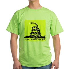 Don't Tread On Me Gadsden Green T-Shirt