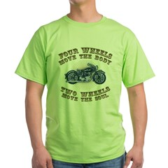 2 Wheels Move IV Green T-Shirt