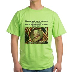 Jefferson-Tyranny vs. Liberty Green T-Shirt