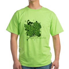 grunge_hops_dark Green T-Shirt