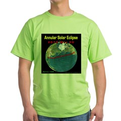 2012 Annular Solar Eclipse Green T-Shirt
