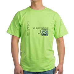 Real Athletes Run - Male Green T-Shirt