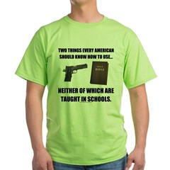Not Taught in Schools Green T-Shirt