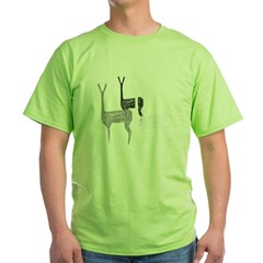 deer_cafe Green T-Shirt