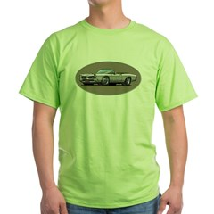 66-67 White / Silver GTO Convertible Green T-Shirt
