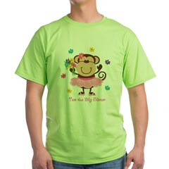 Monkey Big Sister Green T-Shirt