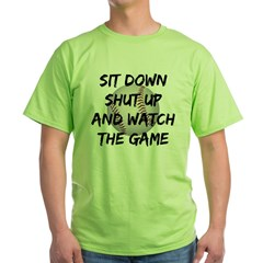Funny Baseball Green T-Shirt