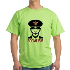 Obama Socialism Green T-Shirt