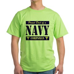 Corpsman Dad Green T-Shirt