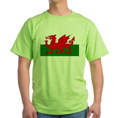 Flag of Wales (Welsh Flag) Green T-Shirt