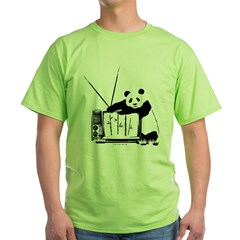 Panda Vision (Black) Green T-Shirt
