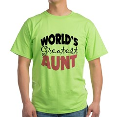 World's Greatest Aunt Green T-Shirt