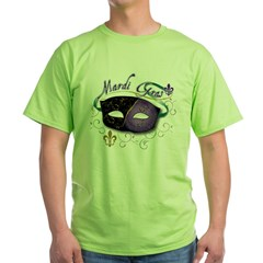 Mardi Gras 2 Green T-Shirt