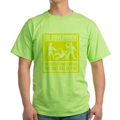 Protecting and Serving Green T-Shirt
