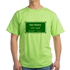 San Mateo Green T-Shirt