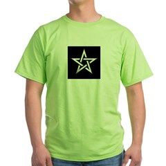 Wiccan Pentagram Green T-Shirt