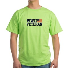 WWII VETERAN Green T-Shirt