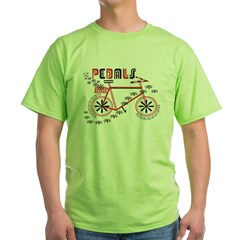 Pedals Cyclist Men's double dry short sleeve mesh Green T-Shirt