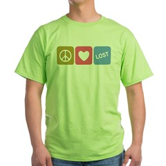 Peace Love Los Green T-Shirt