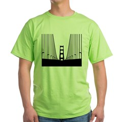 bay.bridge.black Green T-Shirt