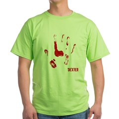Bloody hand Print Blk Green T-Shirt