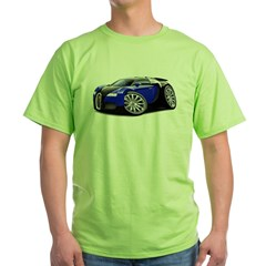 Veyron Black-Blue Car Green T-Shirt