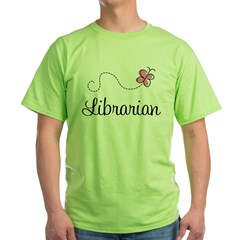 Cute Librarian Green T-Shirt