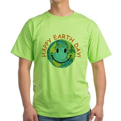 Happy Earth Day Green T-Shirt