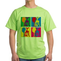 Pop Art Wine Green T-Shirt